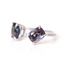 Load image into Gallery viewer, spinel duolitaire ring