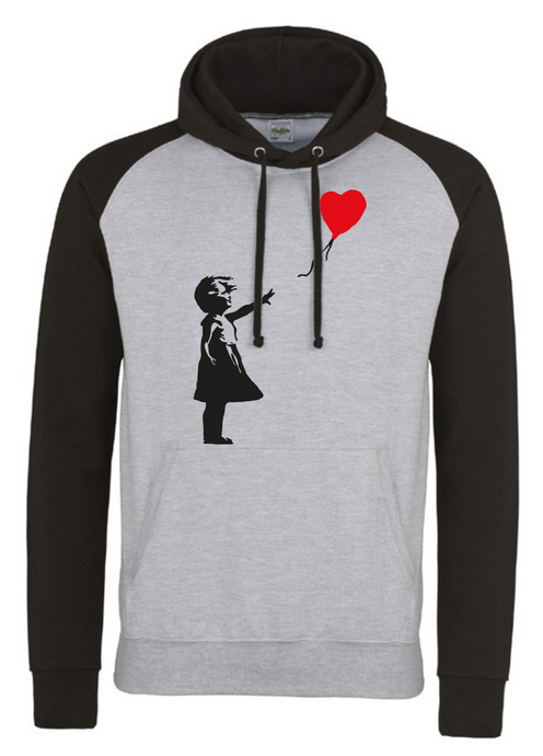 Official Hoodie - 'Girl with heart balloon' (grey)