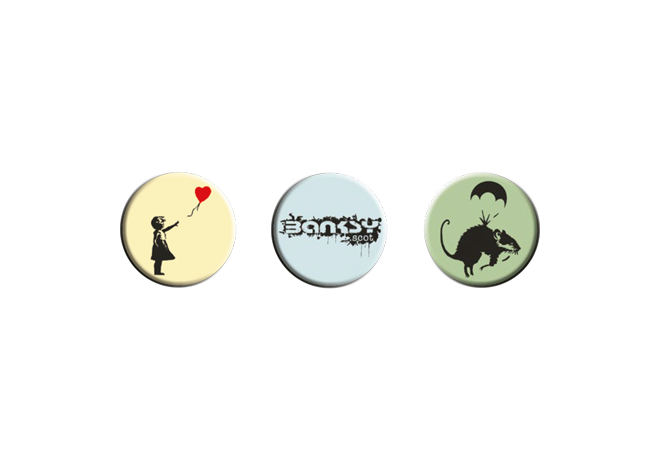 Official Saving Banksy Badges