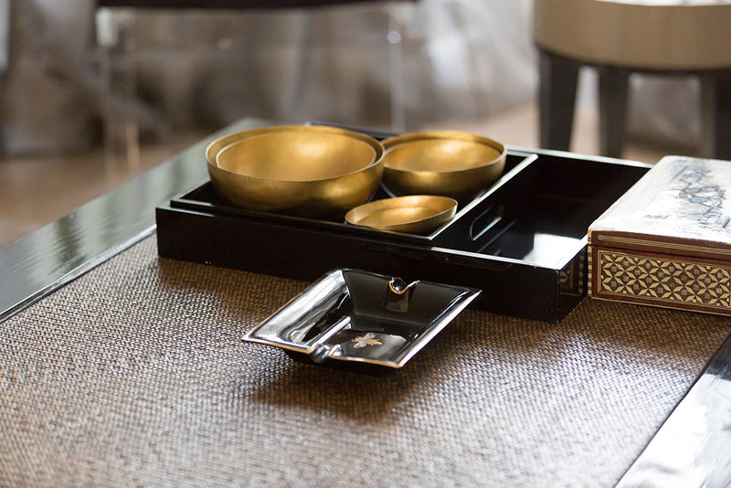 Large Trinket Tray / Ashtray - Black Bee-Casacarta-CASACARTA