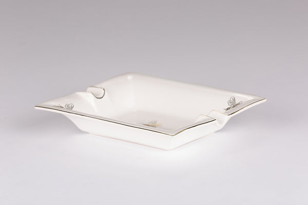 Large Trinket Tray / Ashtray - White Bee