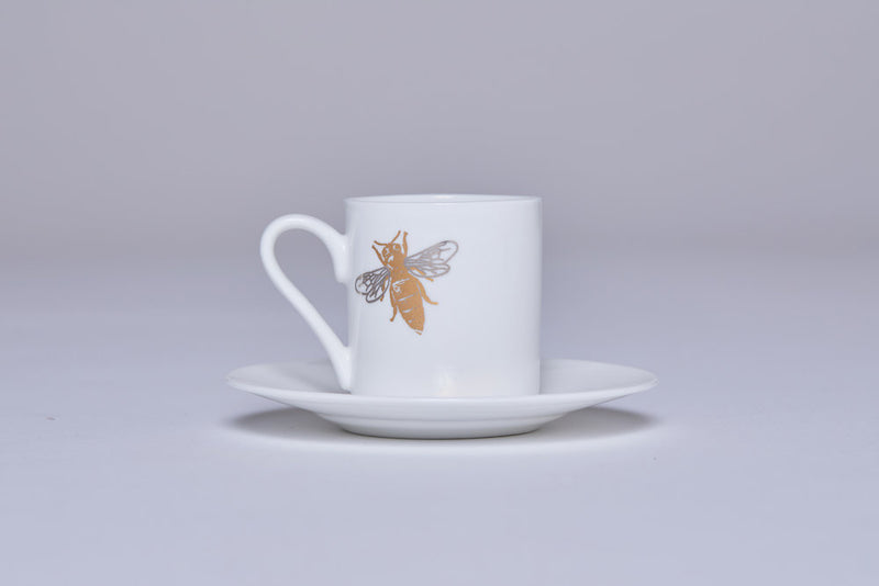 Espresso Cup & Saucer (Set Of 2) - Bee