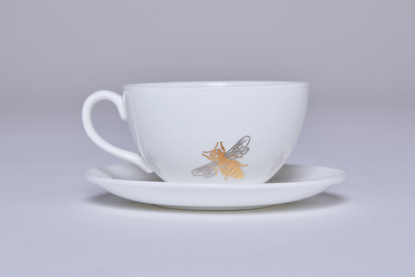 Teacup & Saucer (Set of 2) - Bee