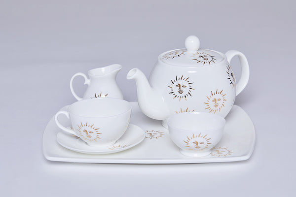Teacup & Saucer (Set Of 2)- Sun-Casacarta-CASACARTA