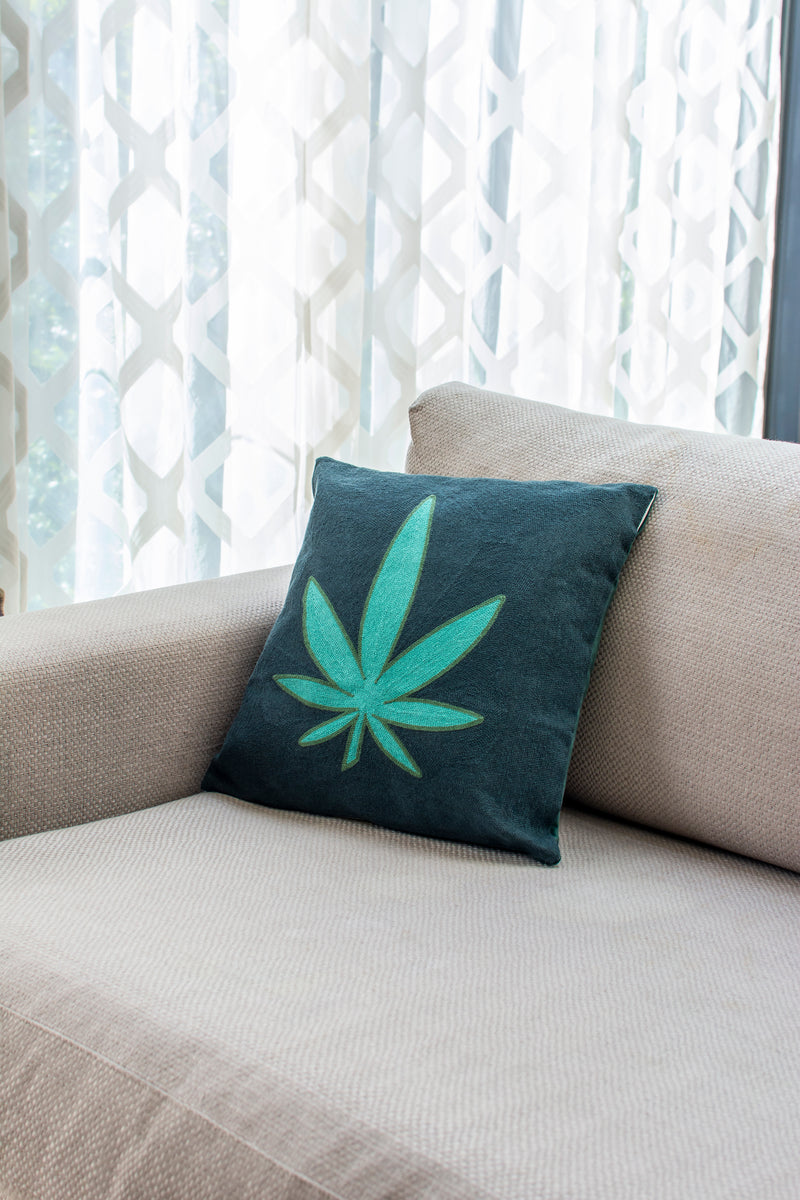 Embroidered Cushion - The Maryjane