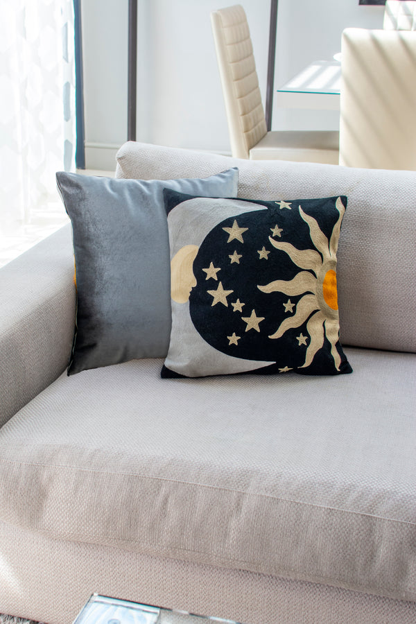 Embroidered Cushion - The Galaxy-Casacarta-CASACARTA