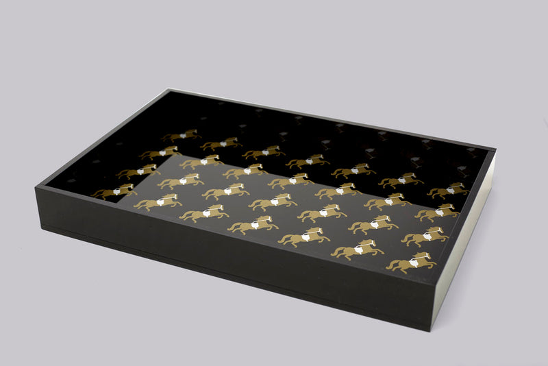 Trinket Tray - Gold & Silver Horse
