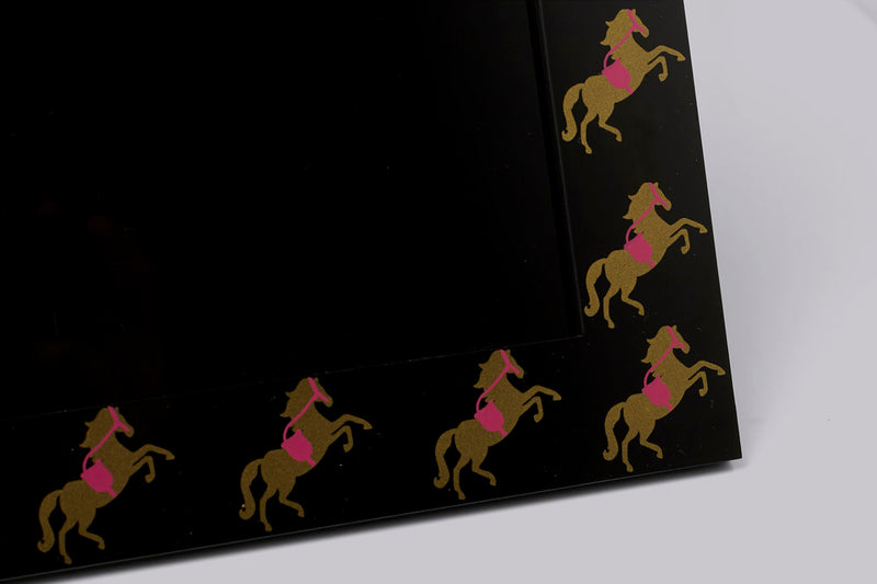 Photo Frame - Pink & Gold Horse