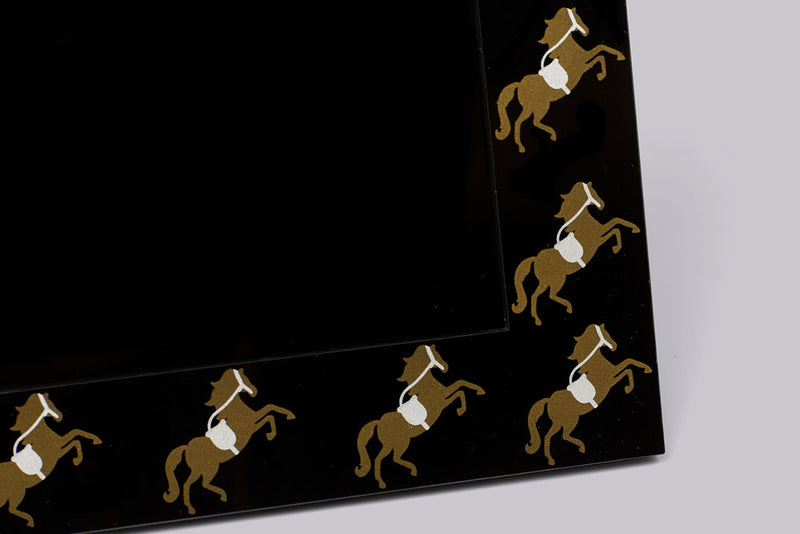 Photo Frame - Gold & Silver Horse