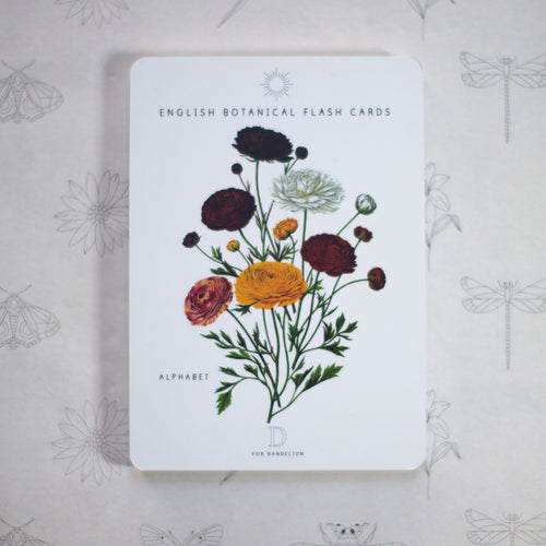 Botanical Alphabet Cards