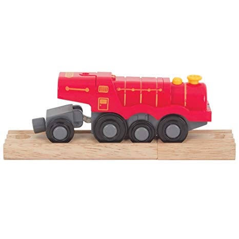 Big Red Steam Locomotive - Battery Operated