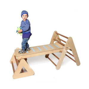 Medium Climbing Frame/Pikler Triangle with Slide/Ramp