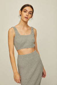 NUS - Rib Knit Crop Tank