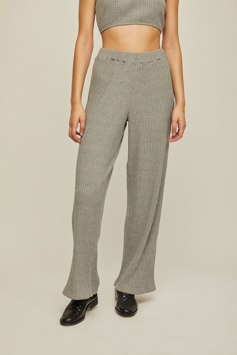 ANDREA | High Waisted Knit Pants