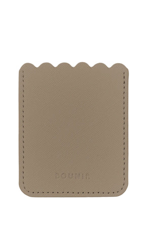 SCALLOP - taupe vegan leather pocket