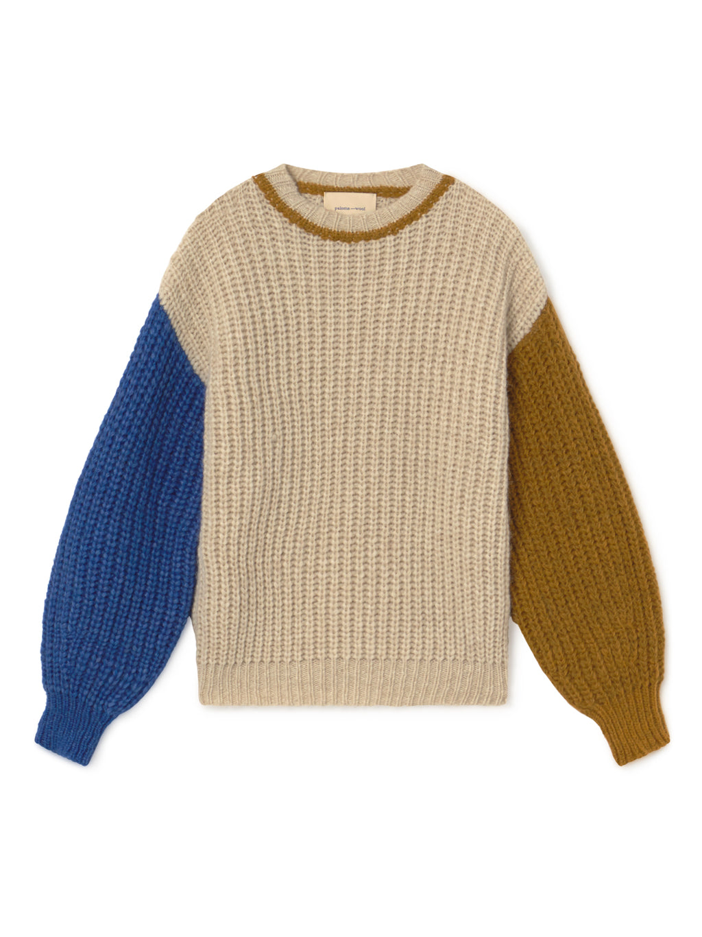 FRIGO - Two Tone Sleeve Sweater