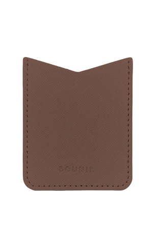 FJORD - brown vegan leather pocket