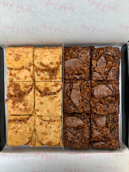 Caramel Chip Blondie & Chocolate Caramel Brownie Box 🍯 🍫