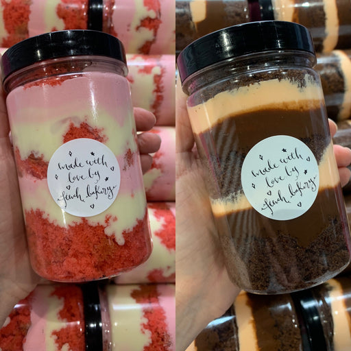 Choc Orange Cake Jar and Raspberry White Choc Cake Jar • Box of 2 🍊