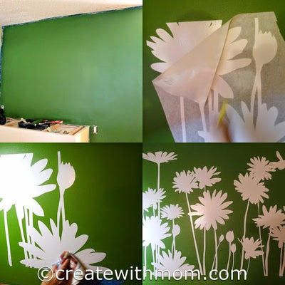 Create with Mom Blog Review on Stickerbrand wall decal!