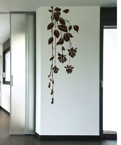 Hanging Flower Vines Vinyl Wall Decal Sticker. #1016