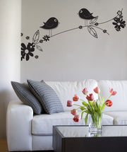Vinyl Wall Decal Sticker Flowery Tree Branch #1017