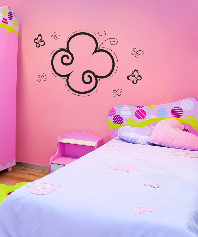 Vinyl Wall Decal Sticker Butterflies and Bows #1018