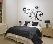 Vinyl Wall Decal Sticker Swirly Floral Plant #1022