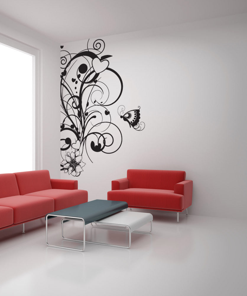 Vinyl wall decal sticker nature love 1023 amipublicfo Choice Image