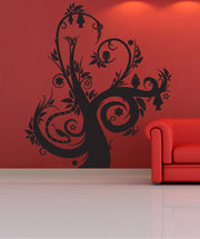 Vinyl Wall Decal Sticker Spooky Abstract Tree #1025