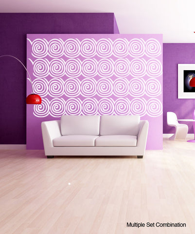 Vinyl Wall Decal Sticker Wall Swirls #1027
