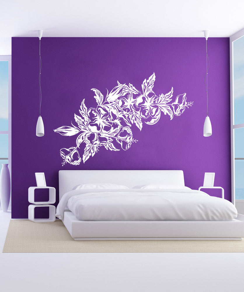 Vinyl wall decal sticker hawaiian flowers 1037 amipublicfo Image collections