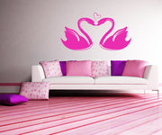 Vinyl Wall Decal Sticker Swans in Love #1038