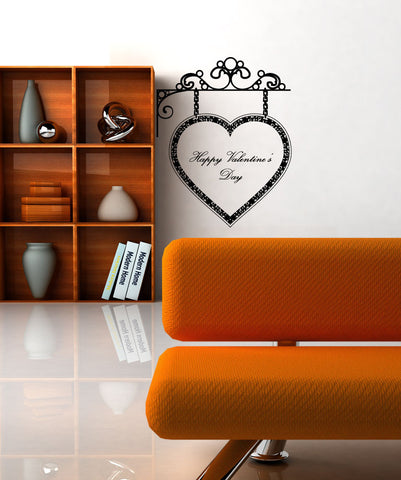 Vinyl Wall Decal Sticker Valentine's Day Sign #1047
