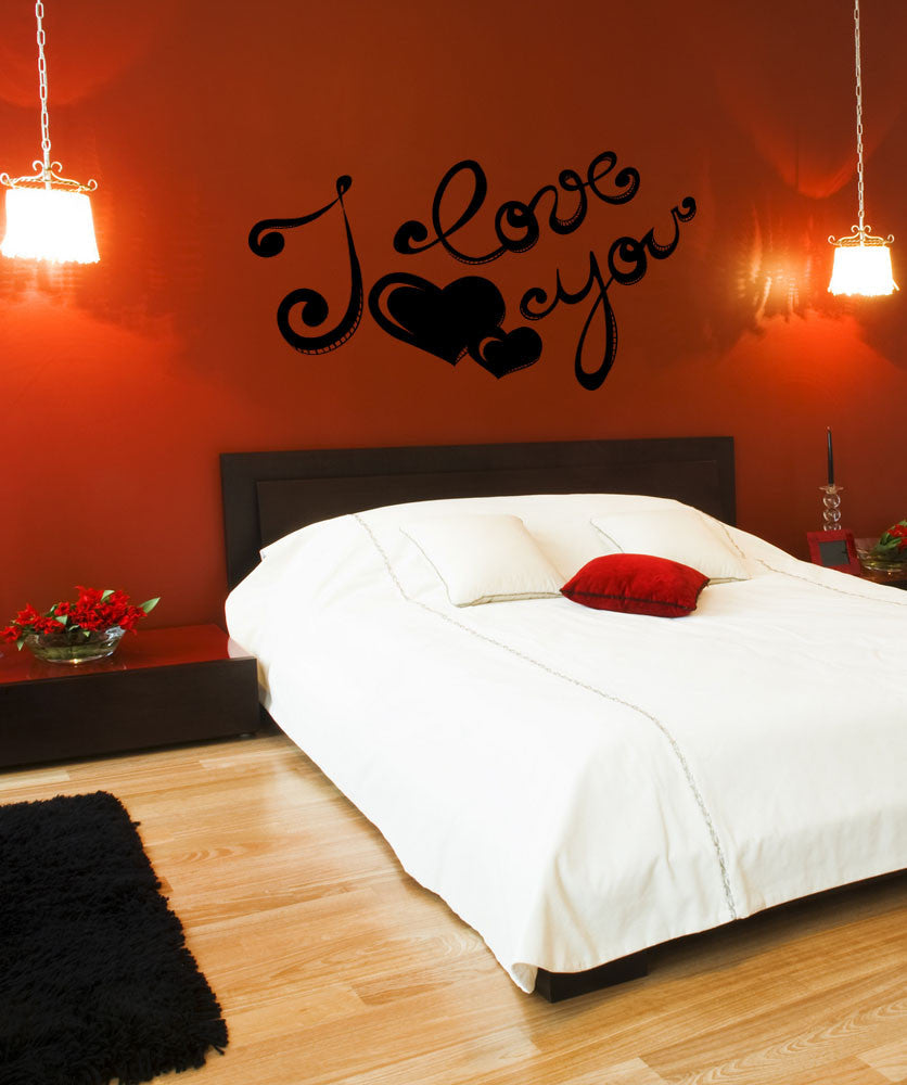 Vinyl Wall Decal Sticker I Love You #1049