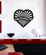 Vinyl Wall Decal Sticker Happy Valentines Day #1053