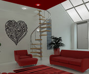 Vinyl Wall Decal Sticker Abstract Heart Design #1055