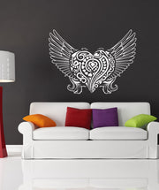 Vinyl Wall Decal Sticker Abstract Angel Heart #1056