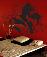 Vinyl Wall Decal Sticker Japanese Mountain #1059