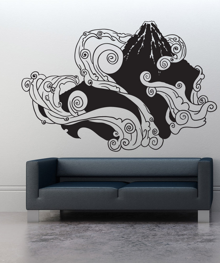 Vinyl wall decal sticker japanese mountain 1059 amipublicfo Choice Image