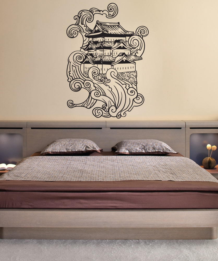 Vinyl Wall Decal Sticker Asian House - Vinyl wall decals asian