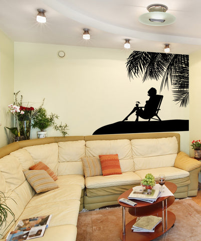 Vinyl Wall Decal Sticker Paradise Silhouette #1064
