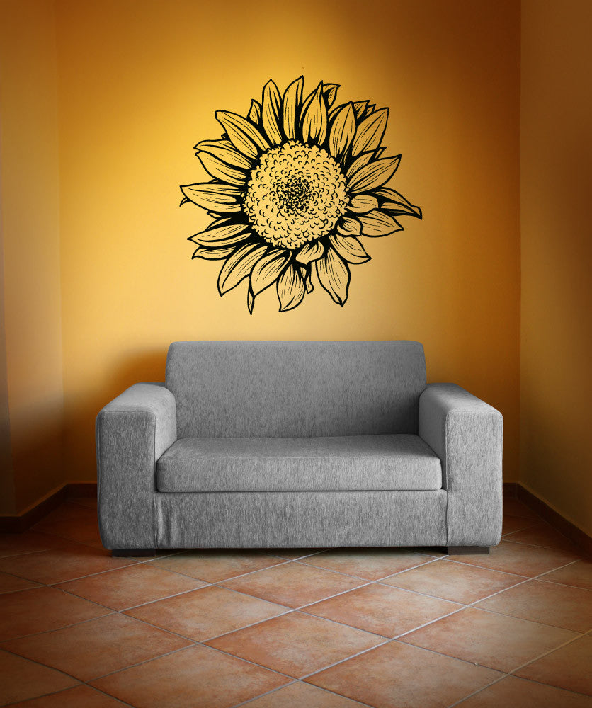 Vinyl Wall Decal Sticker Sunflower 1069