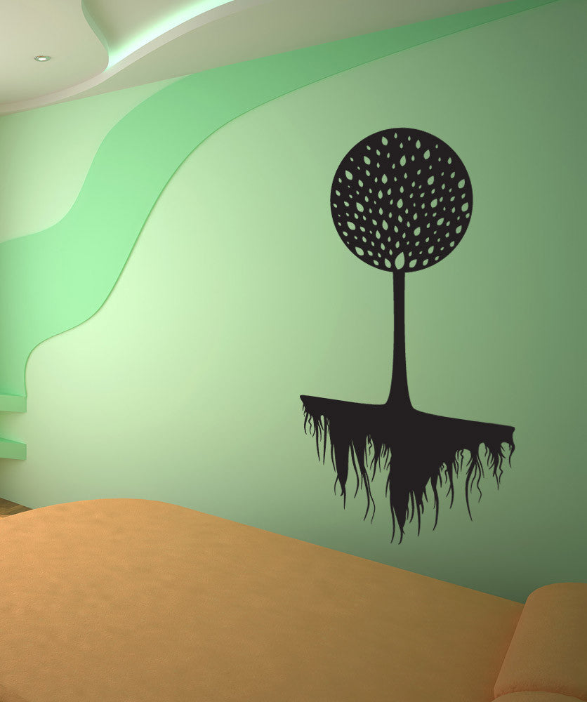 Vinyl Wall Decal Sticker Circle Root Tree #1076