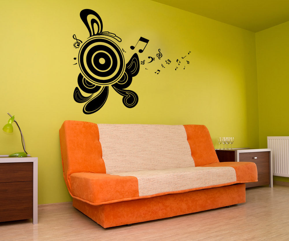 Vinyl Wall Decal Sticker Abstract Speakers - Vinyl wall decals abstract