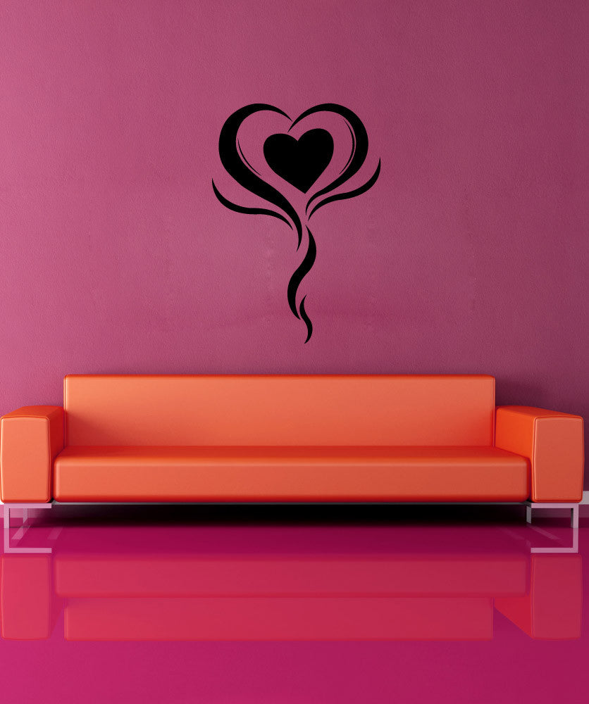 Vinyl Wall Decal Sticker Standing Heart #1090