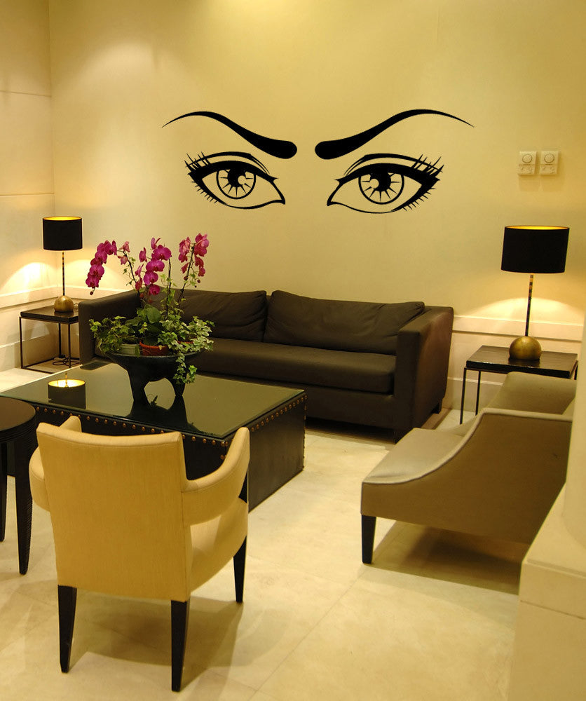 Vinyl Wall Decal Sticker Lady Eyes #1096