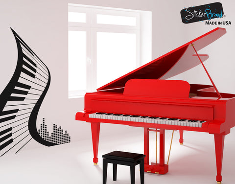 Vinyl Wall Decal Sticker Abstract Piano #1111