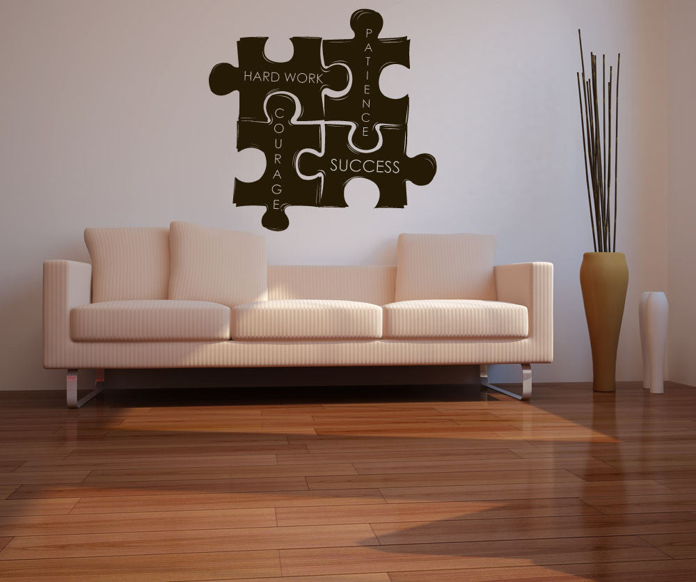 Vinyl Wall Decal Sticker Motivational Puzzle Pieces 1114