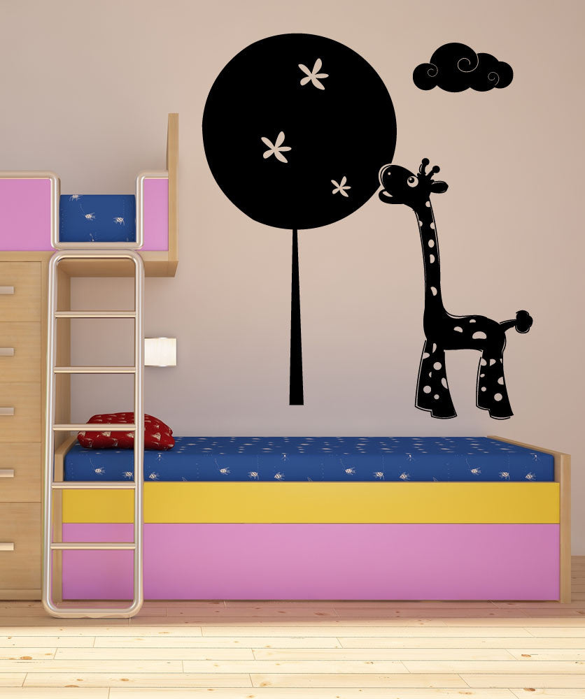 Vinyl Wall Decal Sticker Nursery Giraffe and Tree #1115